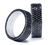 Bez Ambar PAVE5SFB Men's Wedding Ring