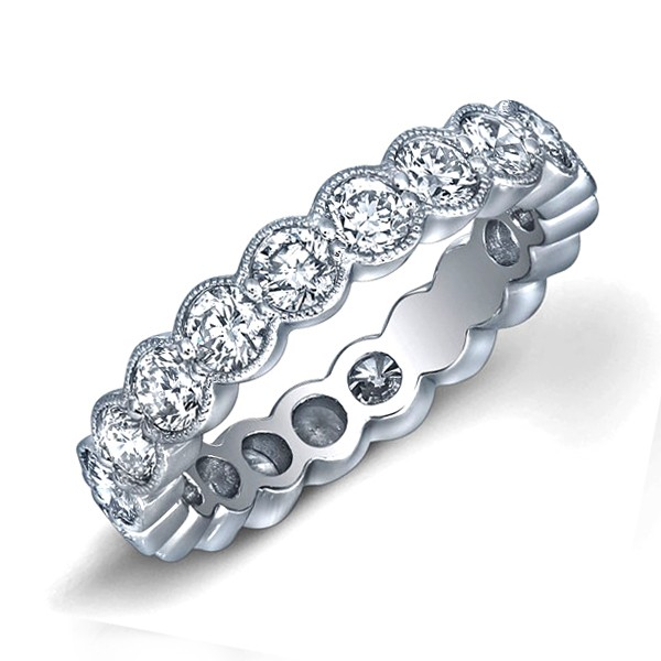petite band eternity bands set pave bezel rose in gold pm diamond wb