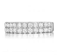 Prong Set Round Brilliant Diamond Wedding Ring