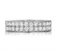 Pave Set Round Brilliant Diamond Eternity Ring