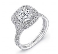 Uneek Silhouette Silhouette-LVS923 Engagement Ring