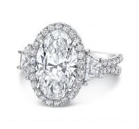 Uneek Silhouette Silhouette-LVS983OV Engagement Ring