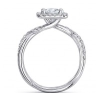 Uneek Infinity Infinity-SM817PR Engagement Ring