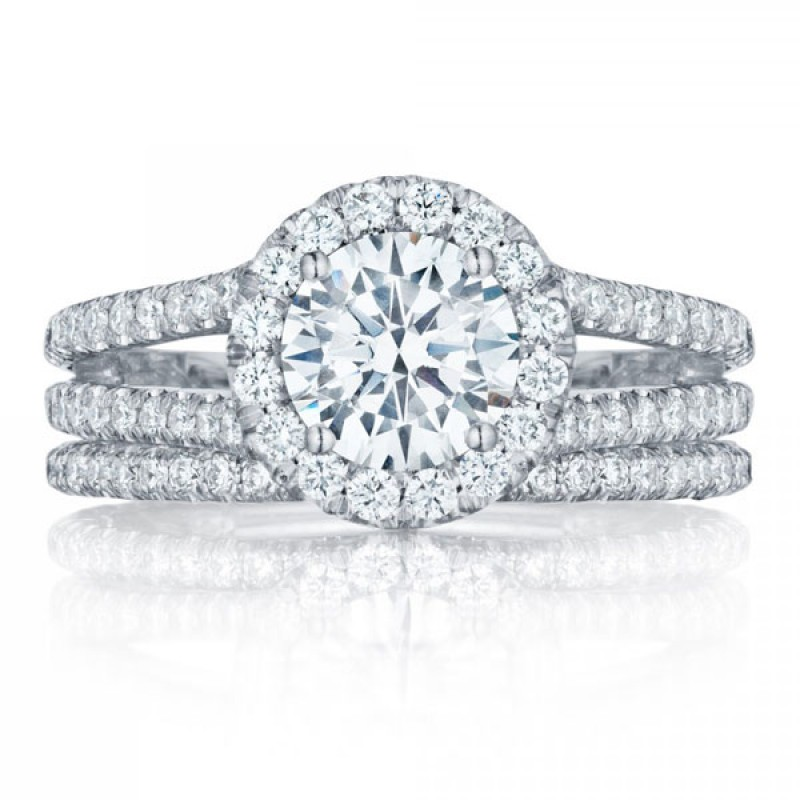Tacori Petite Crescent HT2548RD Pave Engagement Ring