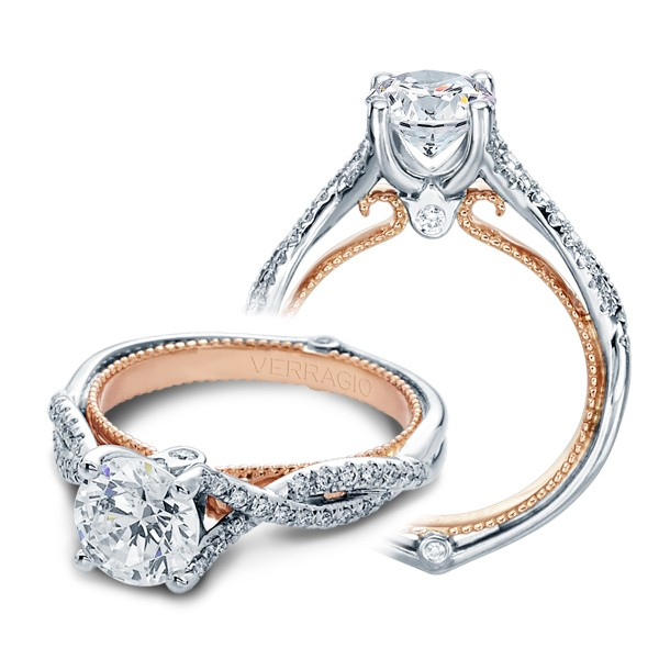 Verragio Couture Eng 0421rtt Halo Prong Engagement Ring