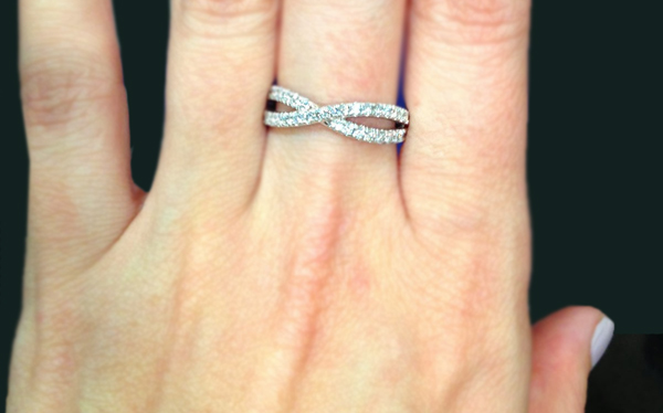 Engagement Ring On Left Hand S Finger Wedding Band Whichever