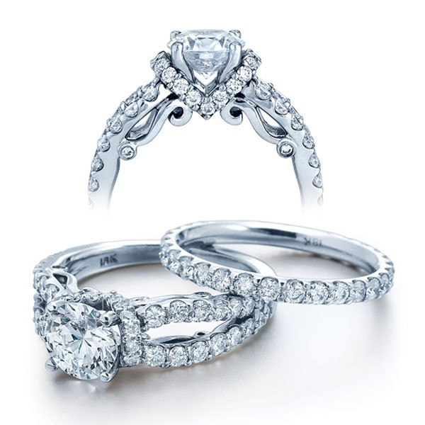 da650404227 Verragio INS-7013W diamond wedding ring. Matching engagement ring sold  separately.
