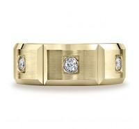 14K Yellow Gold 8mm Diamond Wedding Band