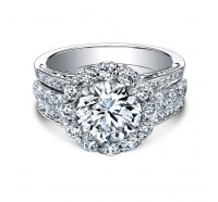 Christopher Designs  76R-RD Engagement Ring
