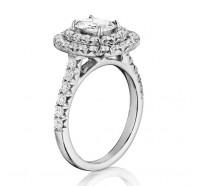 Henri Daussi  AQ Engagement Ring