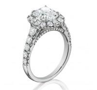 Henri Daussi  AV Engagement Ring