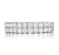 Prong Set Round Brilliant Diamond Wedding Ring