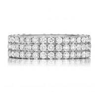 Prong Set Round Brilliant Diamond Eternity Ring