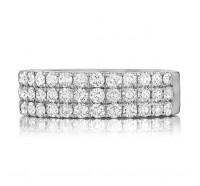 Prong Set Round Brilliant Diamond Anniversary Band