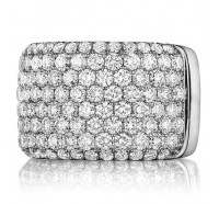 Pave Set Round Brilliant Diamond Anniversary Band