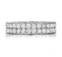 Pave Set Round Brilliant Diamond Eternity Ring