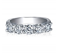 Classic Round Cut 5 Stone Diamond Wedding Ring