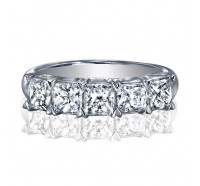 Classic Princess Cut 5 Stone Diamond Wedding Ring