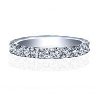 Low Profile Round Brilliant Diamond Eternity Ring