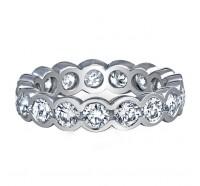Bezel Set Round Brilliant Diamond Eternity Ring