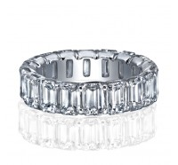 Prong Set Emerald Cut Diamond Eternity Ring