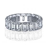 Prong Set Emerald Cut Diamond Eternity Ring