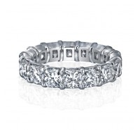 Prong Set Cushion Cut Diamond Eternity Ring