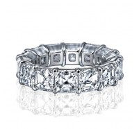 Prong Set Asscher Cut Diamond Eternity Ring
