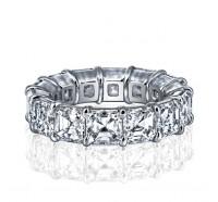 Prong Set Asscher Cut Diamond Eternity Ring