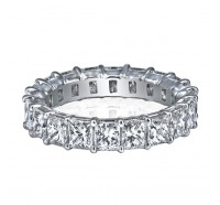 Prong Set Princess Cut Diamond Eternity Ring