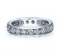 Channel Set Round Brilliant Diamond Eternity Ring