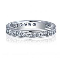 Channel Set Princess Cut Diamond Eternity Ring