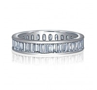 Channel Set Baguette Cut Diamond Eternity Ring