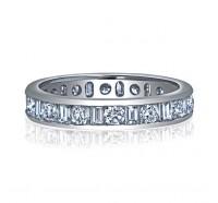 Channel Set Baguette & Round Diamond Eternity Ring