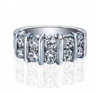 10 Stone Bar Set Diamond Anniversary Band