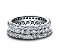 Round Brilliant  Diamond Anniversary Band