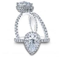 Kirk Kara  K1000D-B Wedding Ring