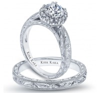 Kirk Kara  K1010-B Wedding Ring