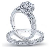 Kirk Kara  K1010-B Wedding Ring