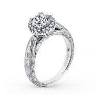 Kirk Kara  K1010DC-R Engagement Ring