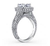 Kirk Kara  SS6933TC-R Engagement Ring