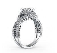 Kirk Kara  SS6955-R Engagement Ring