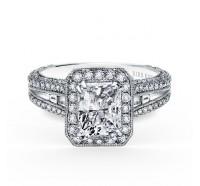 Kirk Kara  SS6983TC-R Engagement Ring