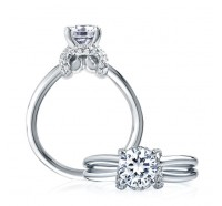 A.JAFFE ME1641 Engagement Ring