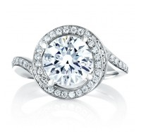 A.JAFFE MES433 Engagement Ring