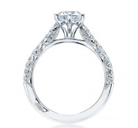 Tacori Petite Crescent HT2546RD Engagement Ring