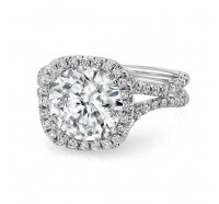 Uneek Silhouette Silhouette-LVS852 Engagement Ring
