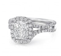 Uneek Silhouette Silhouette-LVS854 Engagement Ring