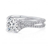 Uneek Silhouette Silhouette-LVS965 Engagement Ring