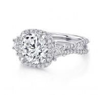 Uneek Silhouette Silhouette-LVS983CU Engagement Ring